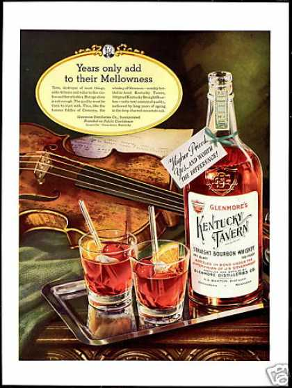 Glenmore's Kentucky Tavern Bourbon Violin (1938)