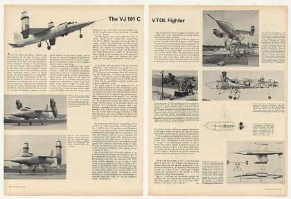 EWR VJ 101C VTOL Fighter Aircraft 2P Photo Article (1963)