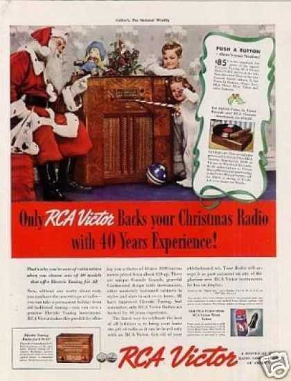 Rca Victor Radio Color Ad Model 97kg (1938)