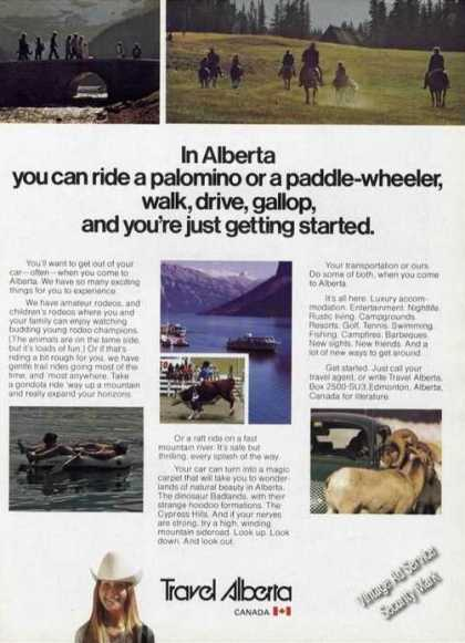 Travel Alberta Canada Walk Drive Gallop (1976)