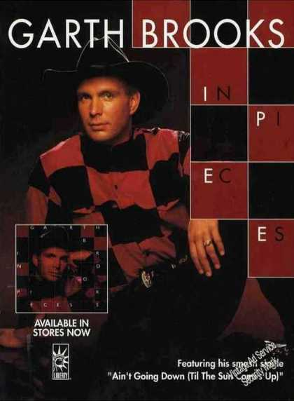 "Garth Brooks Photo ""In Pieces"" Country Music (1993)"