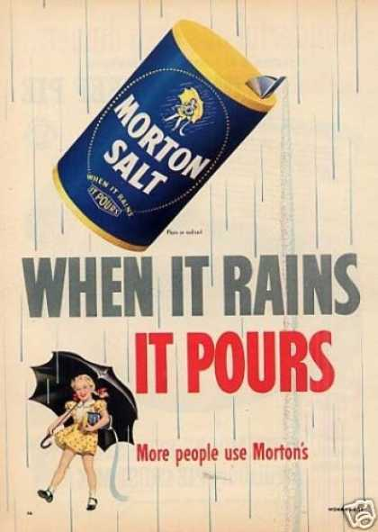 "Morton Salt Ad ""When It Rain It Pours... (1952)"