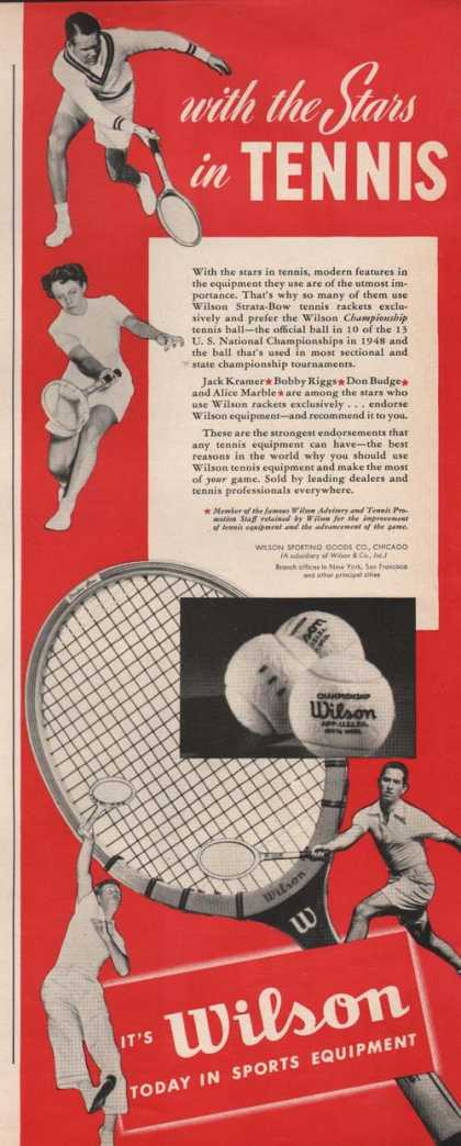 Wilson Stars In Tennis Sports Equipment (1949)