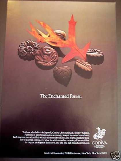 Godiva Chocolates Candy Enchanted Forest (1980)