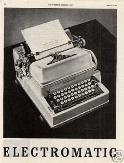Ibm Electromatic Typewriter Ad 2 Page (1946)