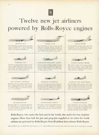 Rolls Royce 12 Different Plane Engines (1958)