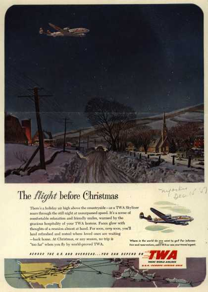 Trans World Airline's Skyliner – The flight before Christmas (1951)