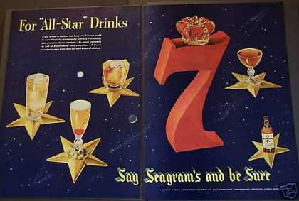 Seagram's 7 Crown Blended Whisky (1953)