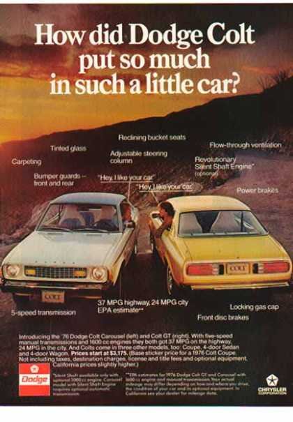 Dodge Car – Dodge Colt Carousel & GT / White & Gold (1976)