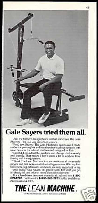 Gale Sayers Chicago Bears in The Lean Machine (1984)