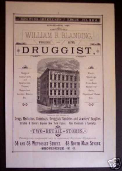 Blanding Druggist Drugs Medicine Providence Ri (1881)