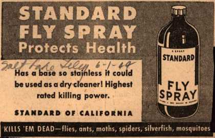 Standard of California's Standard Fly Spray – Standard Fly Spray Protects Health (1944)