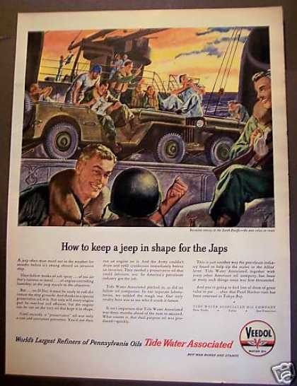 Tide Water Associated Motor Oil World War Ii (1945)