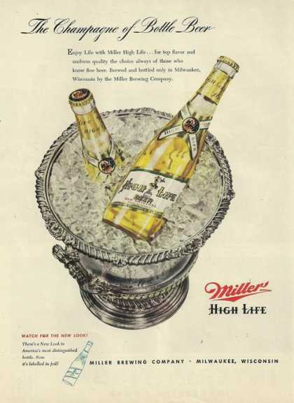 Champagne of Beer Miller High Life (1948)