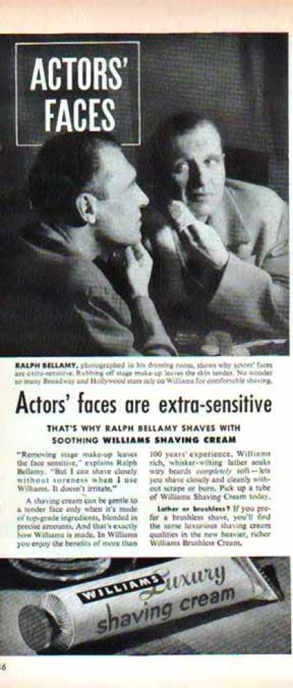 Williams After Shaving Cream – Ralph Bellamy (1948)