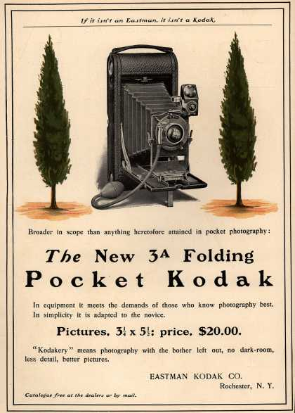 Kodak – The New 3A Folding Pocket Kodak (1903)