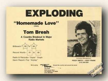 Tom Bresh Photo Homemade Love Country Music (1976)