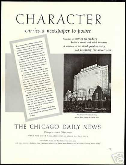 Chicago Daily News Newspaper Building Vintage (1940)