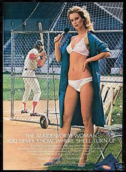 Sexy Woman Sports Reporter Maidenform Lingerie (1982)