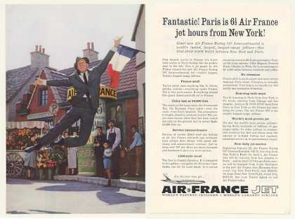 Gene Kelly Air France Airlines Photo 2-Page (1960)