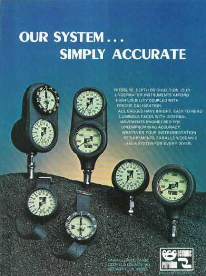Farallon Modular Instruments Diver Gauges (1978)