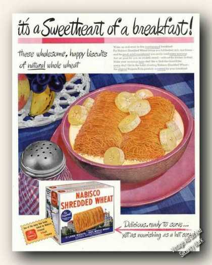 Nabisco Shredded Wheat Art Very Nice (1946)