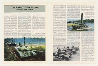 Soviet T-72 Battle Tank 6-Page Photo Article (1987)