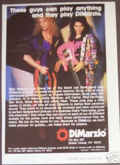 Steve Vai Billy Sheehan Photo Dimarzio (1986)
