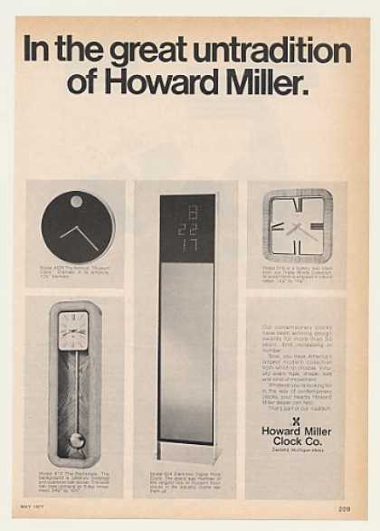 '77 Howard Miller Model 4628 612 624 518 Clock