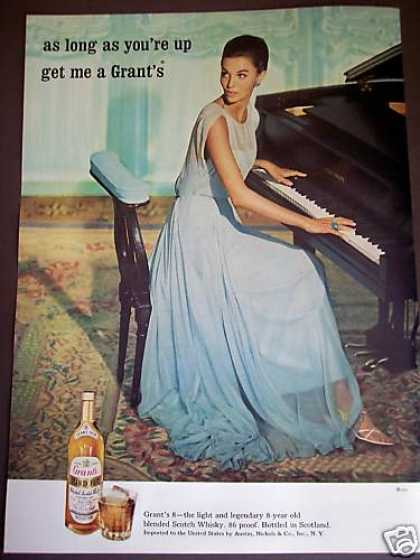 Piano Playing Woman In Blue Gown Grants Scotch (1964)