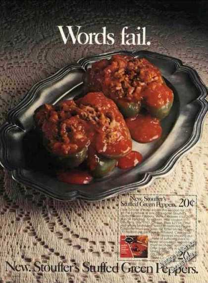 Stouffer's Stuffed Green Peppers Words Fail (1976)