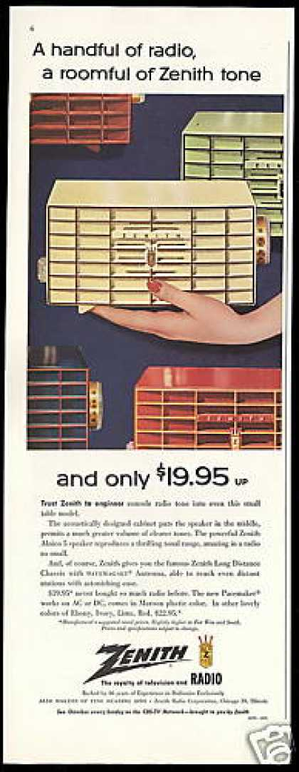 Zenith Pacemaker Radio Vintage Photo (1955)