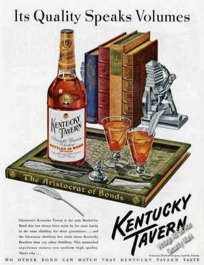 Kentucky Tavern Bourbon Quality Speaks Volumes (1949)