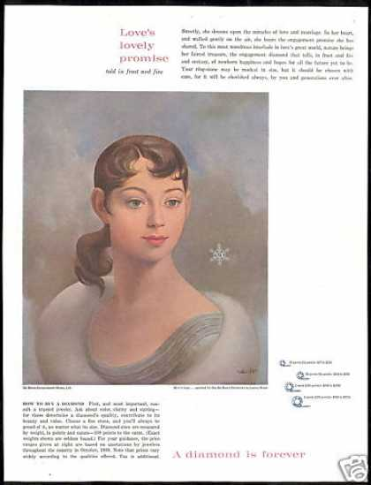DeBeers Diamonds Leona Wood Art De-Beers (1960)
