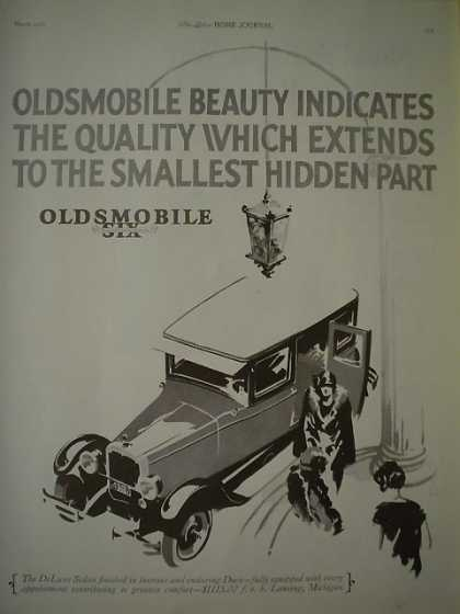 Oldsmobile Six Auto AND Kleenex Cold Cream Remover (1926)