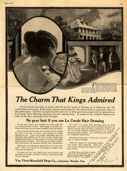Van Vleet-Mansfield Drug Co.'s Hair Dressing – The Charm That Kings Admired (1919)