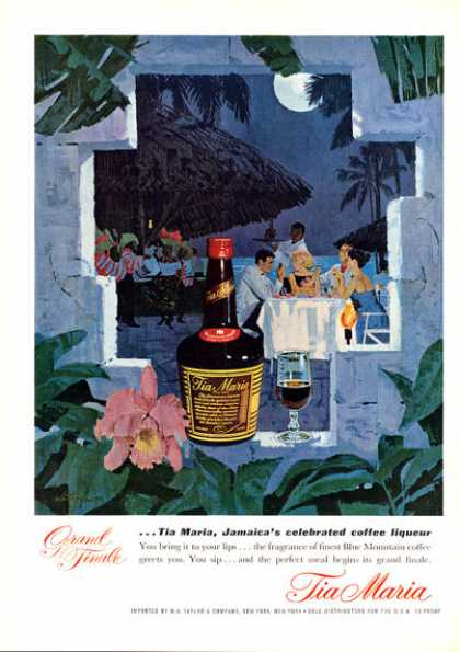 Tia Maria Jamaica Print Moon Light Dinner (1962)