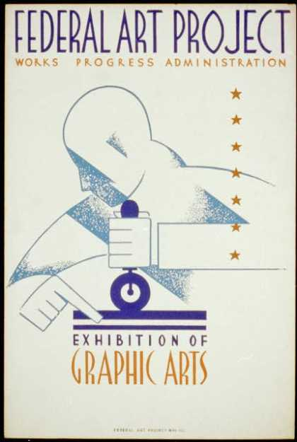 Federal Art Project Works Progress Administration exhibition of graphic arts. (1936)