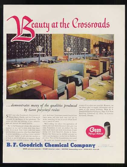 Crossroads Restaurant Miami Beach B F Goodrich (1948)