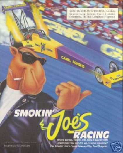 Camel Powered Dragster Smoking Joe Cigarette (1994)