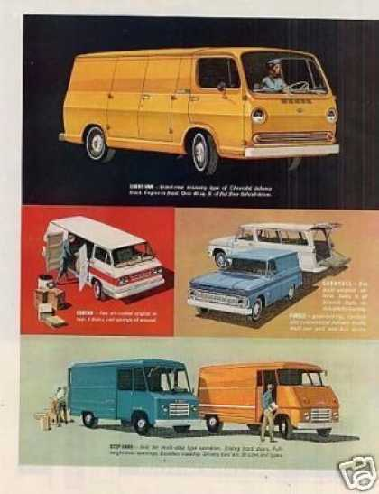 Chevrolet Vans Ad 2 Page (1964)