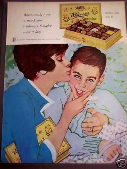 Boy Gives Mom Whitman's Chocolate Mother's Day (1963)