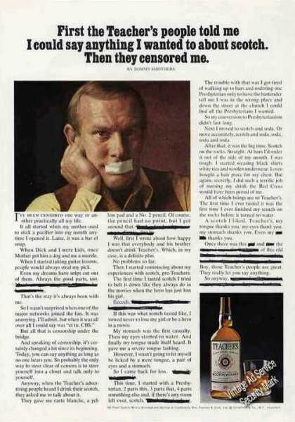 Tommy Smothers Photo Teachers Scotch (1973)