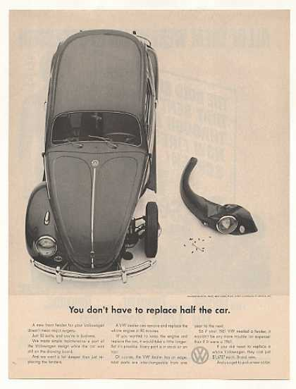 VW Volkswagen Beetle Bug Replace Front Fender (1961)