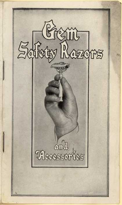 Gem Cutlery Co.'s razors – Gem Safety Razors and Accessories (1911)