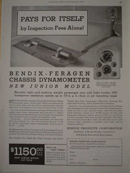 Bendix Feragen Chassis Dynamometer New Junior Model (1937)
