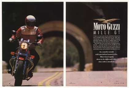 Moto Guzzi Mille GT Motorcycle 7-Page Test Article (1989)