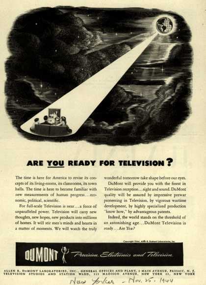 Allen B. DuMont Laboratorie's Television – Are You Ready for Television? (1944)