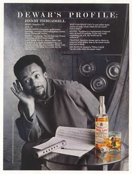 Henry Threadgill Dewar's Scotch Profile Photo (1988)