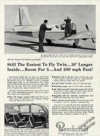 Beechcraft Travel Air Photos Airplane (1960)